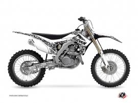 Graphic Kit Dirt Bike Predator Honda 450 CRF White