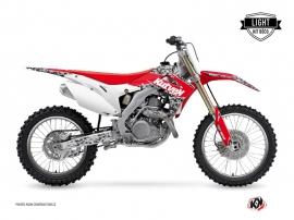 Graphic Kit Dirt Bike Predator Honda 450 CRF Black Red LIGHT