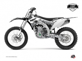 Kawasaki 450 KXF Dirt Bike PREDATOR Graphic kit White LIGHT