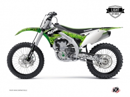 Kawasaki 450 KXF Dirt Bike PREDATOR Graphic kit Black Green LIGHT