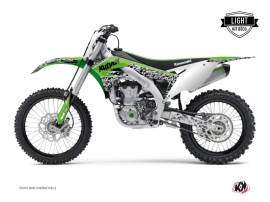 Kawasaki 450 KXF Dirt Bike PREDATOR Graphic kit Green LIGHT