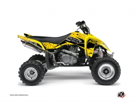 Graphic Kit ATV Predator Suzuki 450 LTR Black Yellow