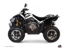 Graphic Kit ATV Predator Kymco 450 MAXXER White