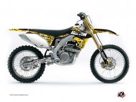 Suzuki 450 RMZ Dirt Bike PREDATOR Graphic kit Black Yellow