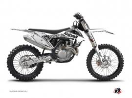 Graphic Kit Dirt Bike Predator KTM 450 SXF White
