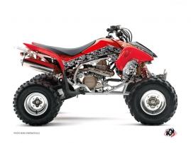 Graphic Kit ATV Predator Honda 450 TRX Black Red