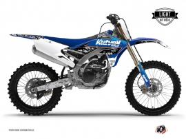 Graphic Kit Dirt Bike Predator Yamaha 450 YZF Black Blue LIGHT