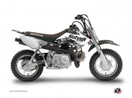 Honda 50 CRF Dirt Bike PREDATOR Graphic kit White