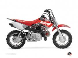 Honda 50 CRF Dirt Bike PREDATOR Graphic kit Black Red