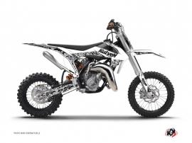 Graphic Kit Dirt Bike Predator KTM 50 SX White