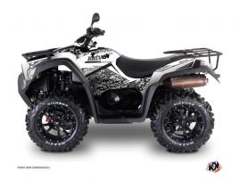 Kymco 550-700 MXU ATV Predator Graphic Kit White