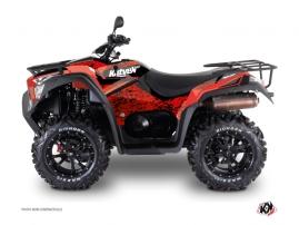 Kymco 550-700 MXU ATV Predator Graphic Kit Red Black