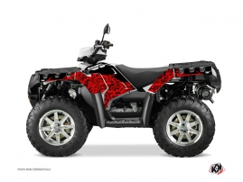 Graphic Kit ATV Predator Polaris 550-850-1000 Sportsman Forest Red Black