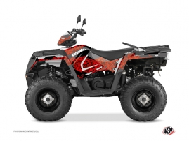 Graphic Kit ATV Predator Polaris 570 Sportsman Touring Red Black