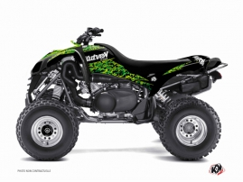 Kawasaki 700 KFX ATV PREDATOR Graphic kit Black Green