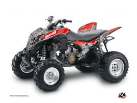 Graphic Kit ATV Predator Honda 700 TRX Black Red
