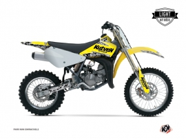 Suzuki 85 RM Dirt Bike PREDATOR Graphic kit Yellow LIGHT