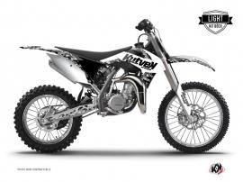 KTM 85 SX Dirt Bike PREDATOR Graphic kit White LIGHT