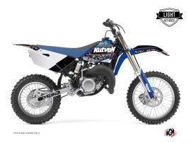 Yamaha 85 YZ Dirt Bike PREDATOR Graphic kit Black Blue LIGHT
