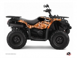 Graphic Kit ATV Predator CF Moto CFORCE 520 S Black Orange