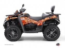 Graphic Kit ATV Predator CF Moto CFORCE 800 S Black Orange