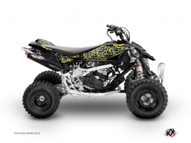 Graphic Kit ATV Predator Can Am DS 90 Black Grey Yellow