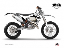 KTM EXC-EXCF Dirt Bike Predator Graphic Kit White LIGHT