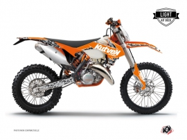 KTM EXC-EXCF Dirt Bike Predator Graphic Kit Orange LIGHT