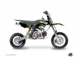 YCF F125 Dirt Bike PREDATOR Graphic kit Black Green
