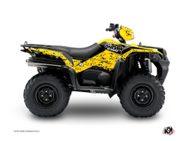 Graphic Kit ATV Predator Suzuki King Quad 750 Black Yellow
