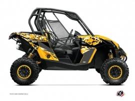 Can Am Maverick UTV Predator Graphic Kit Black Yellow