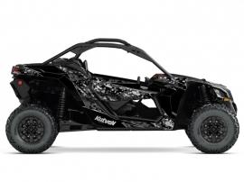 Can Am Maverick X3 UTV Predator Graphic Kit Black Grey