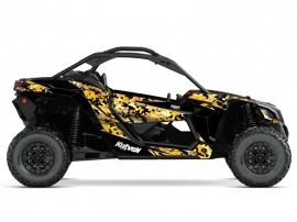 Can Am Maverick X3 UTV Predator Graphic Kit Black Yellow