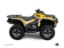 Can Am Outlander 1000 ATV PREDATOR Graphic kit Black Yellow