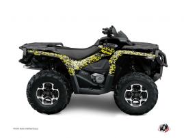 Graphic Kit ATV Predator Can Am Outlander 500-650-800 XTP Black Grey Yellow