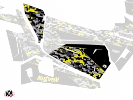 Graphic Kit Doors Origin Low Predator UTV Polaris RZR 900S/1000/Turbo 2015-2017 Black Grey Yellow