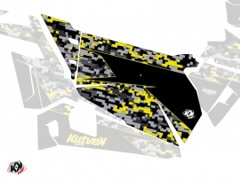 Graphic Kit Doors Origin Predator UTV Polaris RZR 900S/1000/Turbo 2015-2017 Black Grey Yellow