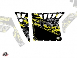 Graphic Kit Doors Suicide Pro Armor Predator UTV Polaris RZR 570/800/900 2008-2014 Black Grey Yellow