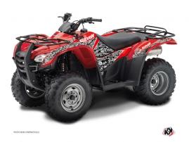 Graphic Kit ATV Predator Honda Rancher 420 Black Red