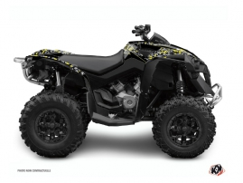 Graphic Kit ATV Predator Can Am Renegade Black Grey Yellow