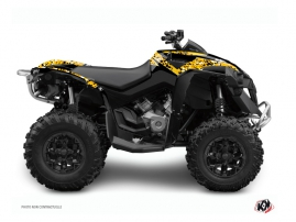 Graphic Kit ATV Predator Can Am Renegade Black Yellow