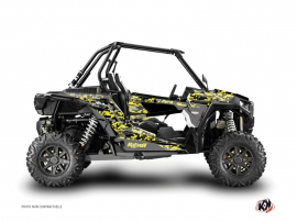 Graphic Kit UTV Predator Polaris RZR 1000 Black Grey Yellow