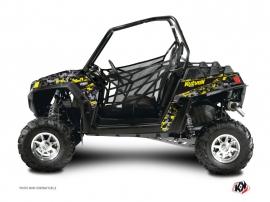 Polaris RZR 900 XP Dirt Bike Predator Graphic Kit Black Grey