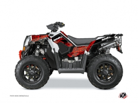 Polaris Scrambler 850-1000 XP ATV PREDATOR Graphic kit Red Black