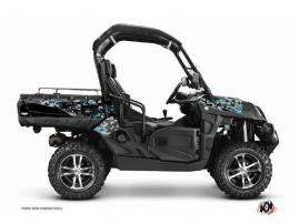 Graphic Kit UTV Predator CF Moto U Force 800 Black Turquoise
