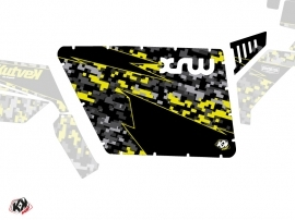 Graphic Kit Doors Standard XRW Predator UTV Polaris RZR 570/800/900 2008-2014 Black Grey Yellow