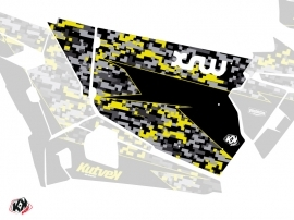 Graphic Kit Doors Standard XRW Predator UTV Polaris RZR 900S/1000/Turbo 2015-2017 Black Grey Yellow