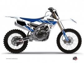 Graphic Kit Dirt Bike Replica Yamaha 250 YZF White Blue