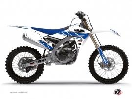 Graphic Kit Dirt Bike Replica Yamaha 450 YZF White Blue