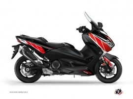 Graphic Kit Maxiscooter Replica Yamaha TMAX 530 Red Black